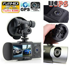 HD Dual Lens Camera Car DVR Dash Cam Video Recorder G-sensor GPS Night Vision US