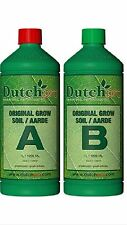 Dutch Pro Original  Grow Soil A + B 1 Litre. Hydroponics. Grow Tents. Grow Light
