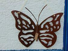 Schmetterling groß Hänger Edelrost Metall Schild Gartendeko Rost