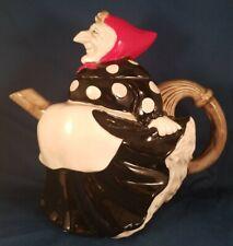 Vintage,Original Fitz and Floyd 1979 Kitchen Polka Dot Witch Teapot