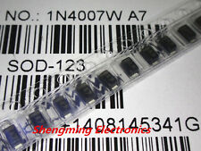 100pcs 1N4007W A7 0.5A 1000V SOD-123 1206 SMD Rectifier diode