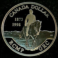 "1998 Canada $1.00 Proof Silver Dollar • ""125 Anniversary of the RCMP"""