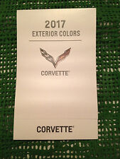 2017 CHEVROLET GM CORVETTE DEALERSHIP EXTERIOR COLOR CHART NEW