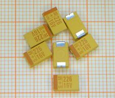 100 Stück Tantal Kondensator 22µF / 16V  = SMD = Gehäuse D = von S+M (Epcos) =