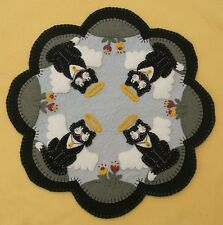 ~*Angel Kitties*~Cats/Angels Penny Rug/Candle Mat PATTERN Applique