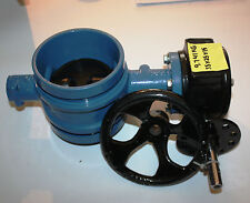 "4"" inch 100mm DN100 shouldered butterfly valve with gearbox NEW"