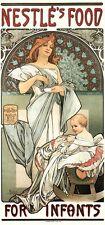 Nestles Food For Infants by Alphonse Mucha Art Nouveau Deco Picture Poster Print