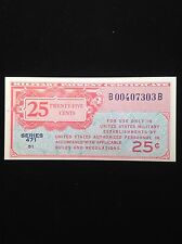 1947 25cent Military Payment Certificate Choice Au Series 471 51