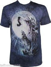 Full Moon Gravity The Mountain Wolf Wolves Husky Huskies Night Moon T-Shirt