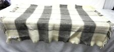 "Vintage Plaid Wool throw Blanket LL Bean 58""x42"""