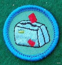 GIRL SCOUT WORLDS TO EXPLORE BADGE - BLUE - ON MY WAY  - FREE SHIPPING