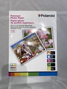 "POLAROID PREMIUM GLOSSY PHOTO PAPER All Ink Jet Printers 8.5 "" x 11"" 8 Sheets"