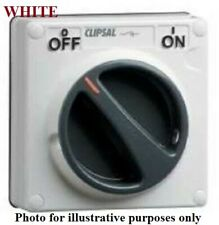 Clipsal 56-SERIES SURFACE SWITCH 20A 3P Control Circuit, Less Enclosure WHITE