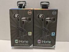 iHome iB18GC Noise-isolating Metal Earbuds With Microphone Gunmetal *2 PACK*