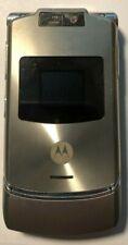 READ FIRST Motorola RAZR V3xx Platinum (Unlocked) Cellular Phone Excellent Used