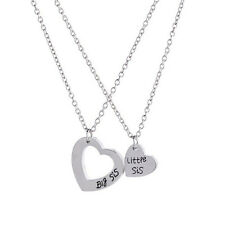 "2pcs Sister Necklace Matching ""Little Sister Big Sister"" Pendant Necklace Set LA"