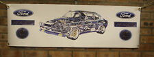ford capri rs2600 new  large pvc banner  garage  work shop man cave classic show