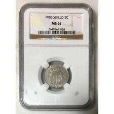 1883 Shield Nickel NGC MS61 *Rev Tye's* #9028151