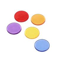 50 1,5 cm Bingo Chip Marker für Bingo Plastik Poker Chips WTDE