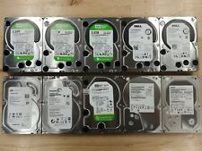 "LOT OF 10 - 2TB Western Digital Seagate 2000GB SATA 3.5"" Desktop Hard Drives"