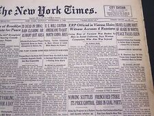 1948 NOVEMBER 1 NEW YORK TIMES - ISRAEL CLAIMS ROUT OF ARABS IN NORTH - NT 4421