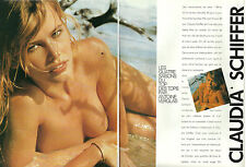 1991 glamour print article CLAUDIA SCHIFFER Top Model nearly nude ! 4 pg 020717