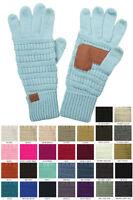 ScarvesMe C.C Unisex Cable Knit Winter Warm Smart Touch Soft Solid Color Gloves