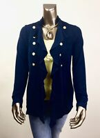 CHICO'S $117 TRAVELERS NWT INDIA-INK MIliTARY JACKET SIZE 1(M)