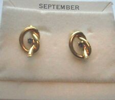 Pierced BIRTHSTONE Earrings Knot RHINESTONES  September