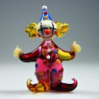 Glasfigur Clown Nr.6 Original tschechisch handgemacht Produkt