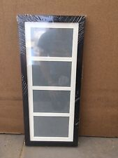 "29""x10"" black wooden picture frame with multi mount to fit 4 8""x6"" photos"