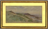 Gilt Framed Mid 20th Century Watercolour - Coastal Landscape