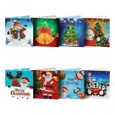 Christmas Greeting Card Cartoon DIY 5D Diamond Painting Gift Hand XMas Gifts