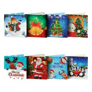 8pcs 5D DIY Diamond Painting Greeting Card Special shaped Birthday Festival Gift