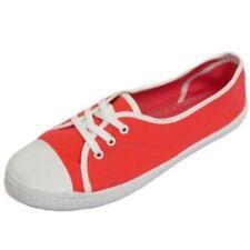 Zapatillas deportivas de mujer plana sin marca de lona