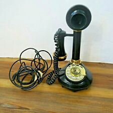 Rotary 1973 Candlestick Telephone American Telecommunications UNTESTED 4 prong