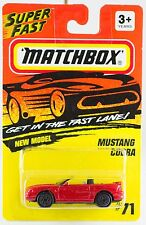 Matchbox MB 71 Mustang Cobra Red New On Card 1995