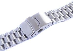 Uhrenarmband Edelstahl voll massive 20mm 22mm Neu Gerade Anstoss