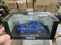 Ebbro 1/43 Scale Die-Cast Model Blue Car - Subaru BRZ