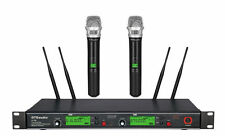 New GTD Audio 2x800 Channel UHF Diversity Wireless Microphone Mic System 733H