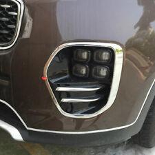 For Kia Sportage 2017 2018 Chrome Front Head Fog light Lamp Cover trim