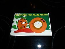 "South Park Kenny Post Card ""Oh my god they killed Kenny"""""