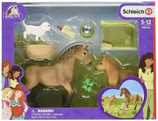 Schleich Horse Club 42432 Sarah's Tierbaby-Pflege Mare and Foal + etc. New