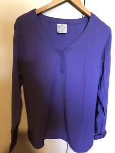 Womens kathmandu Long Sleeve Shirt Purple Size 16