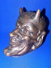 Rare Antique ashtray Devil VTG Russian Demon Cigarette Urn Satan Halloween old