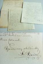 Engl. Brief HANNOVER 1841 Major BENNE: Herzog von Braunschweig bestellt Kalender