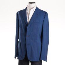 NWT $1425 BOGLIOLI Blue Check Lightweight Wool Sport Coat Slim 42 R Unstructured