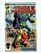 Transformers#10 1985 VF/NM 1st appearance of Constructions Marvel Comics