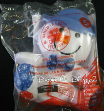 "New BUILD-A-BEAR McDonald's SMILEY SNOWMAN Happy Meal 4"" Mini Plush Toy"