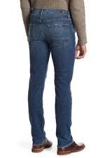 NWT 7 FOR ALL MANKIND Mens Slimmy Slim Straight Leg Stretch Jeans Size 36 Expo